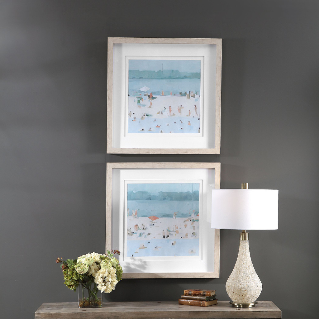Sea Glass Sandbar Framed Prints room view