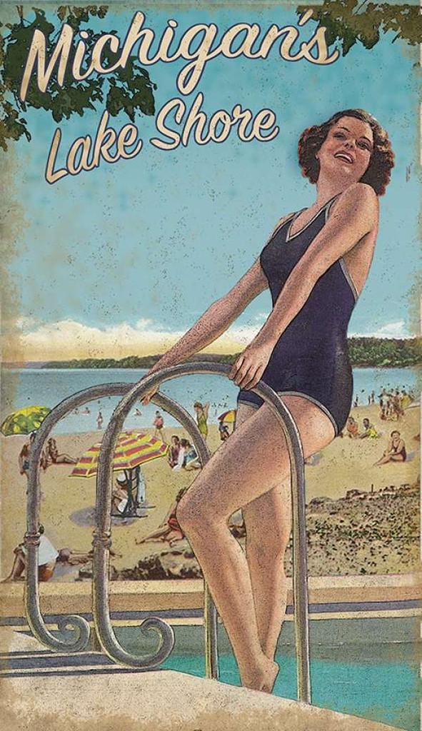 Lake Shore Bathing Beauty Custom Art