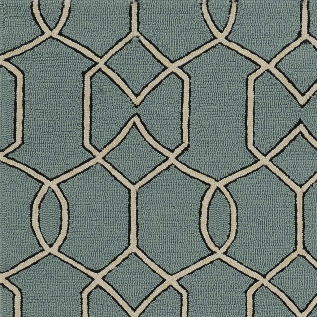 Hamptons Spa Groovy Gate Rug close up