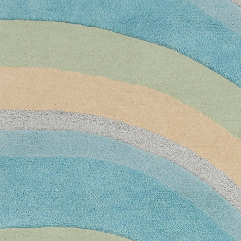 Ocean Vibes Sculpted Wool Luxury Rug close up 1