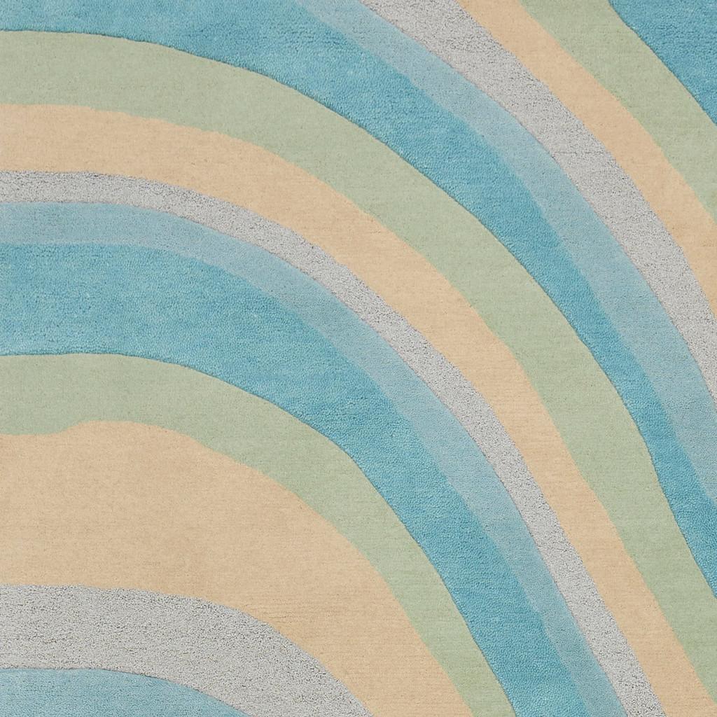 Ocean Vibes Sculpted Wool Luxury Rug close up 2