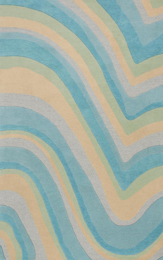 Ocean Vibes Sculpted Wool Luxury Rug