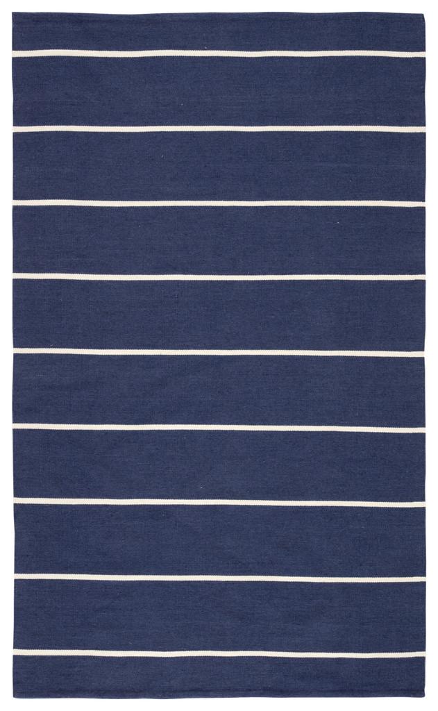 Corbina Pin Striped Indigo Blue Rug