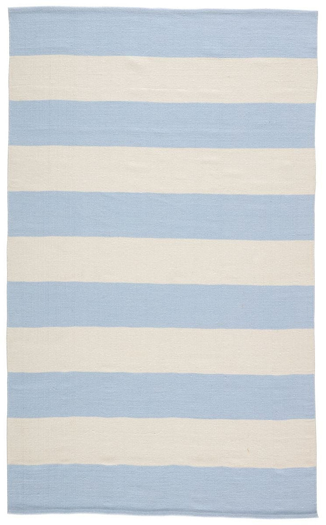 Remora Light Blue Striped Rug