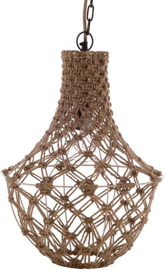 Kasey Key Knotted Jute Lighting Pendant non-lit