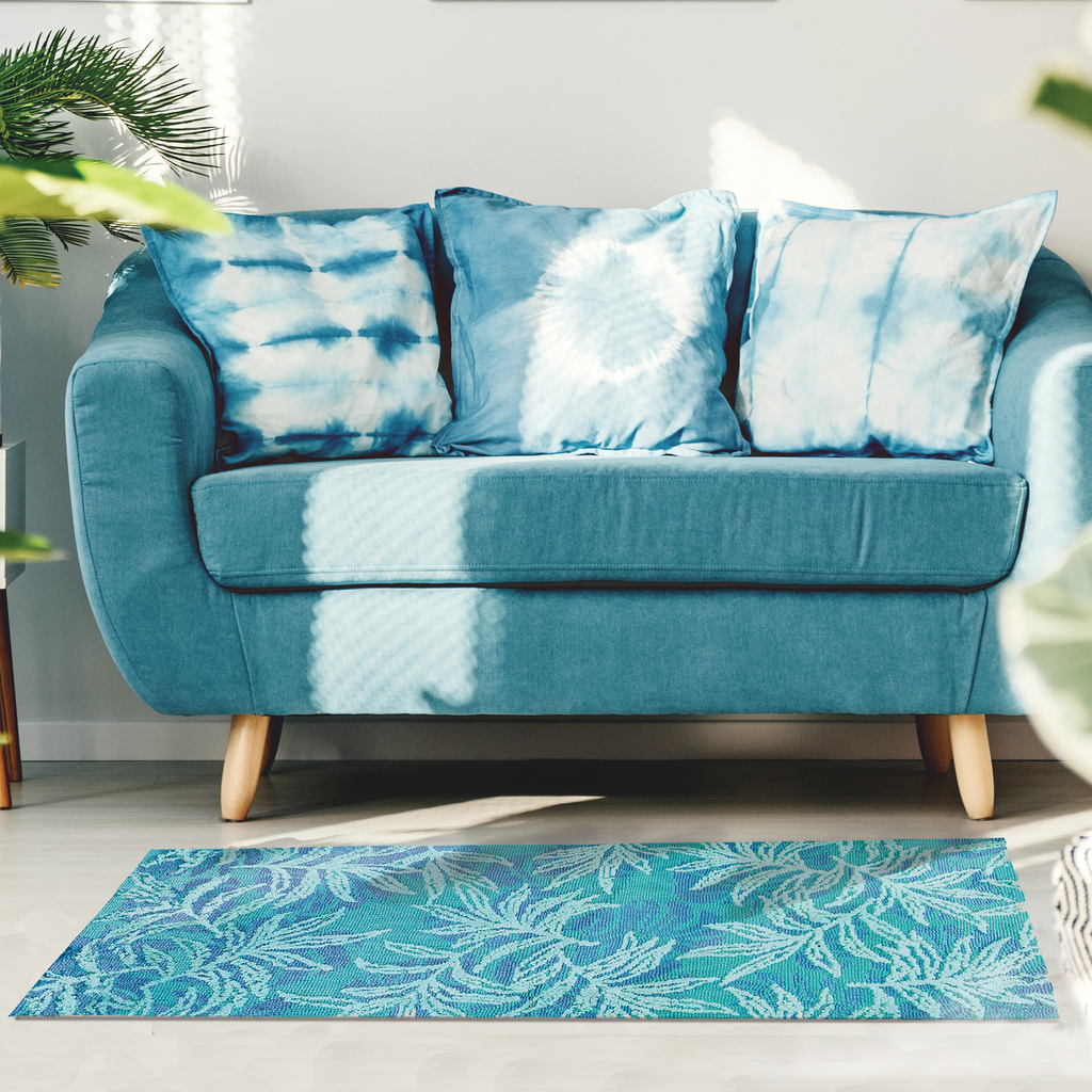 Blue Rainforest Accent Rug room view 2