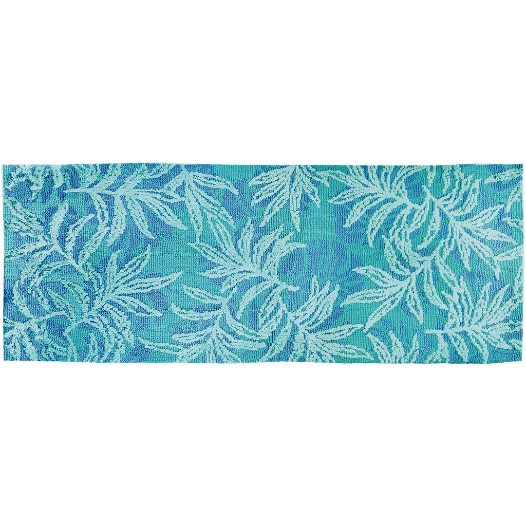 Blue Rainforest Accent Rug runner size