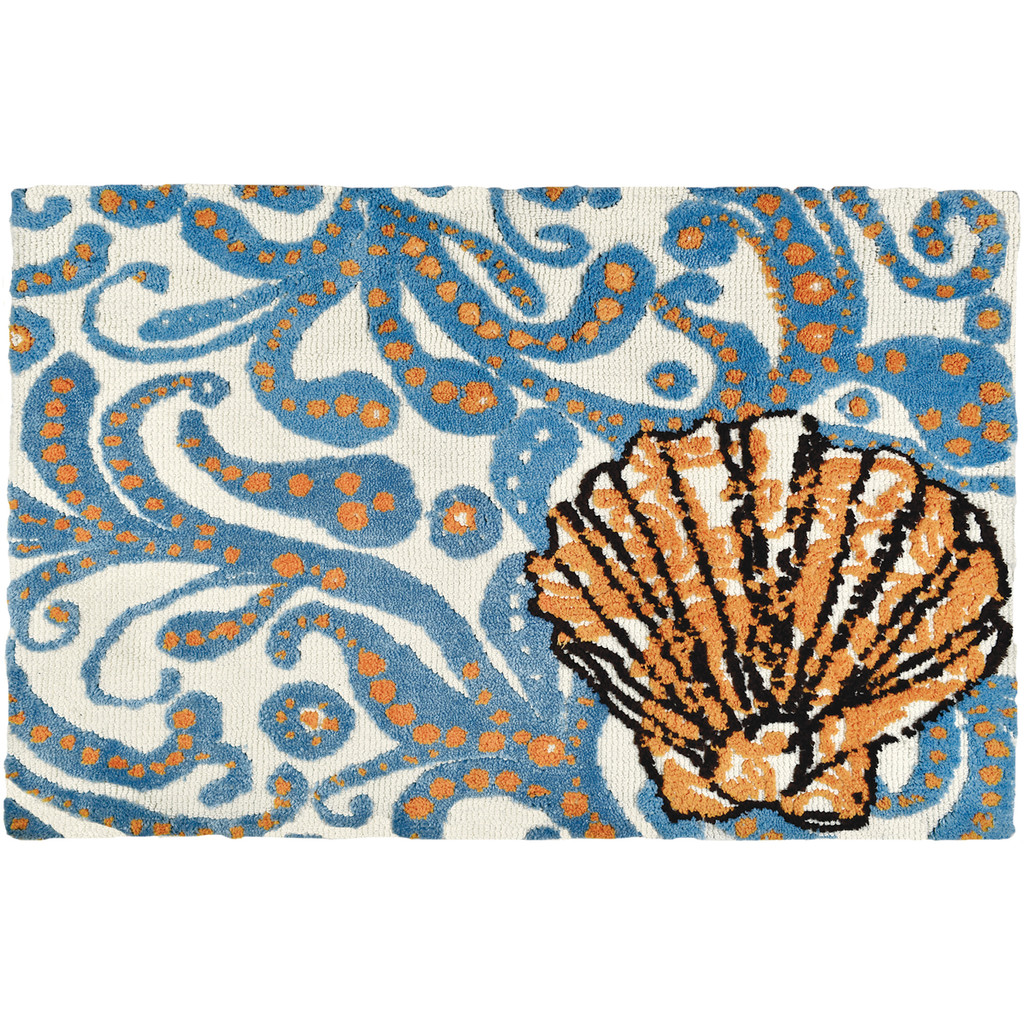 Coastal Dream Shell Accent Rug