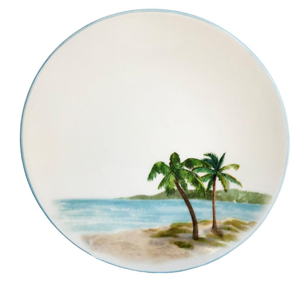 Palm Breezes Salad or Dessert Plates - Set of 6.Individual image