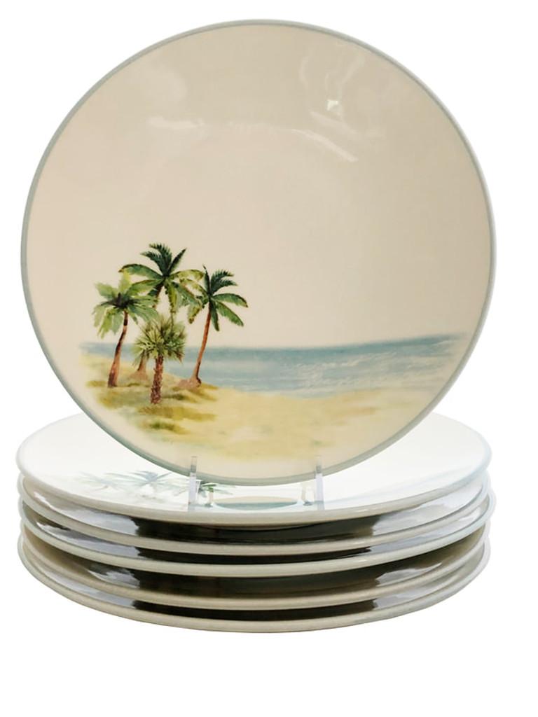 Palm Breezes Salad or Dessert Plates - Set of 6 group