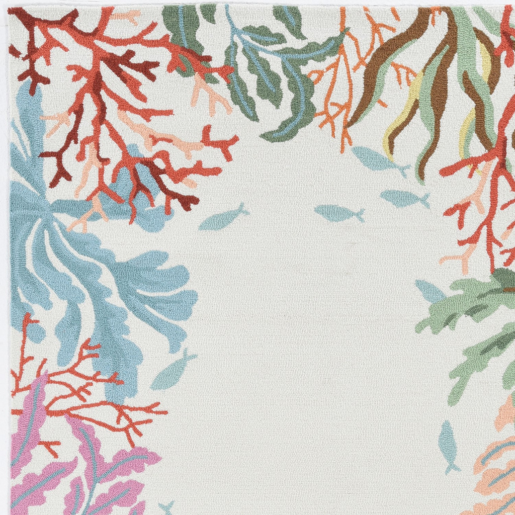 Light Blue Lagoon Hand-Hooked Area Rug
