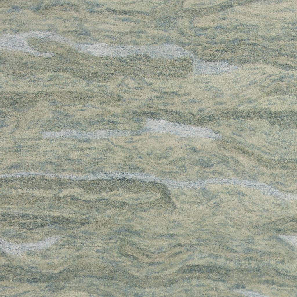Serenity Seafoam Breeze Luxury Wool Rug close up 1
