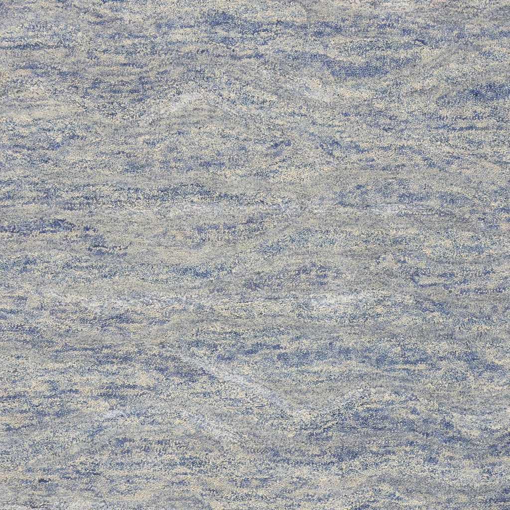 Serenity Ocean Breeze Luxury Wool Rug close up 1