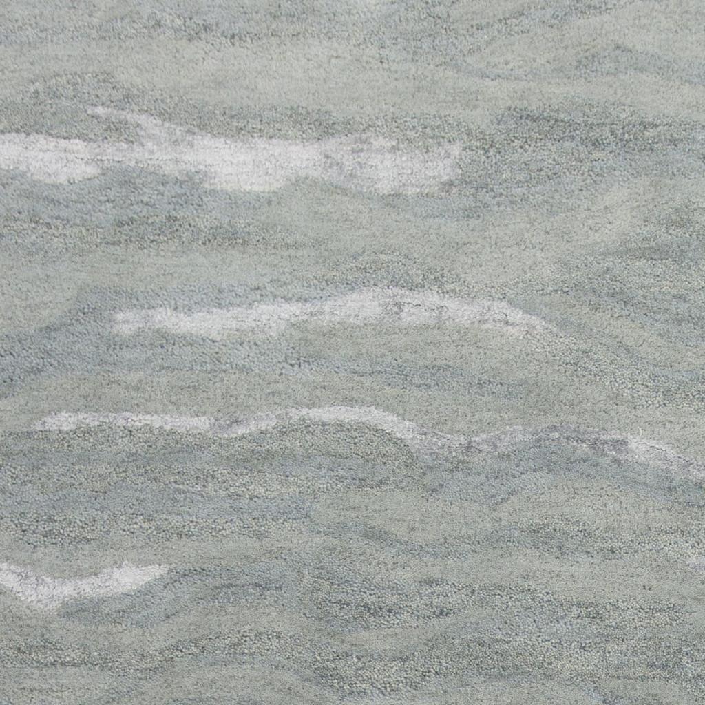 Serenity Slate Storm Luxury Wool Rug close up 1