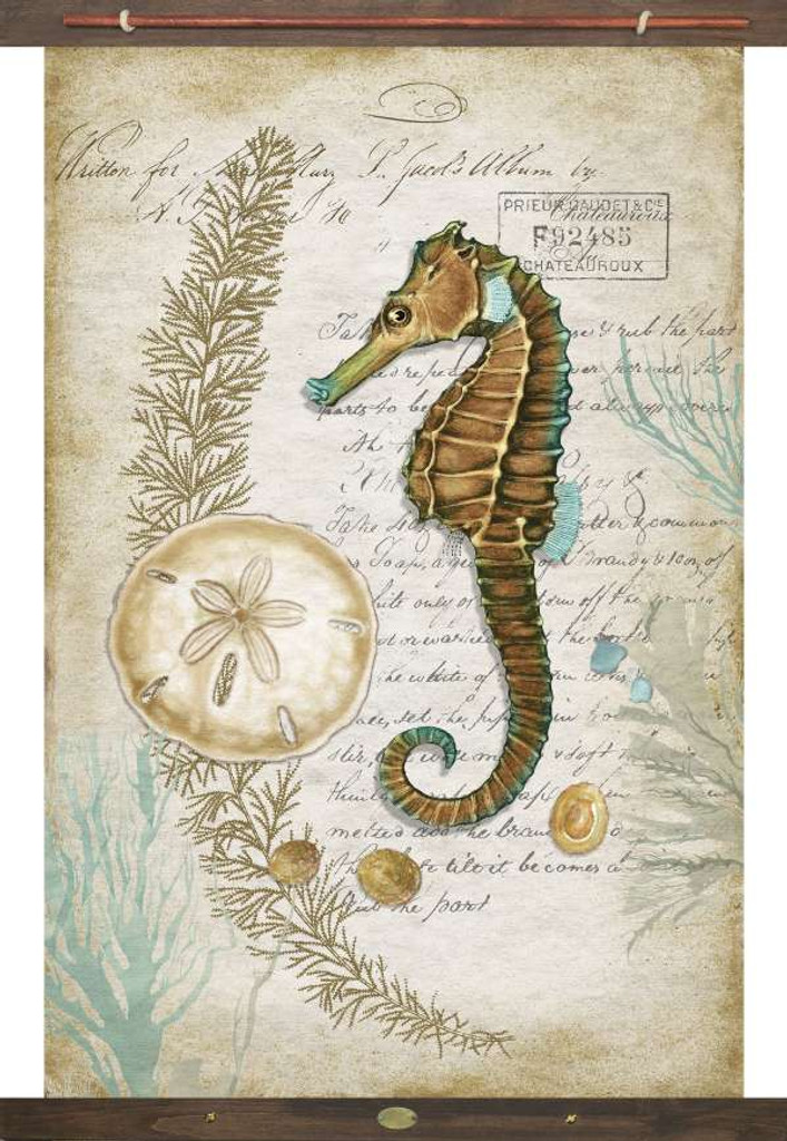 Sea Horse and Sand Dollar Tapestry Wall Art