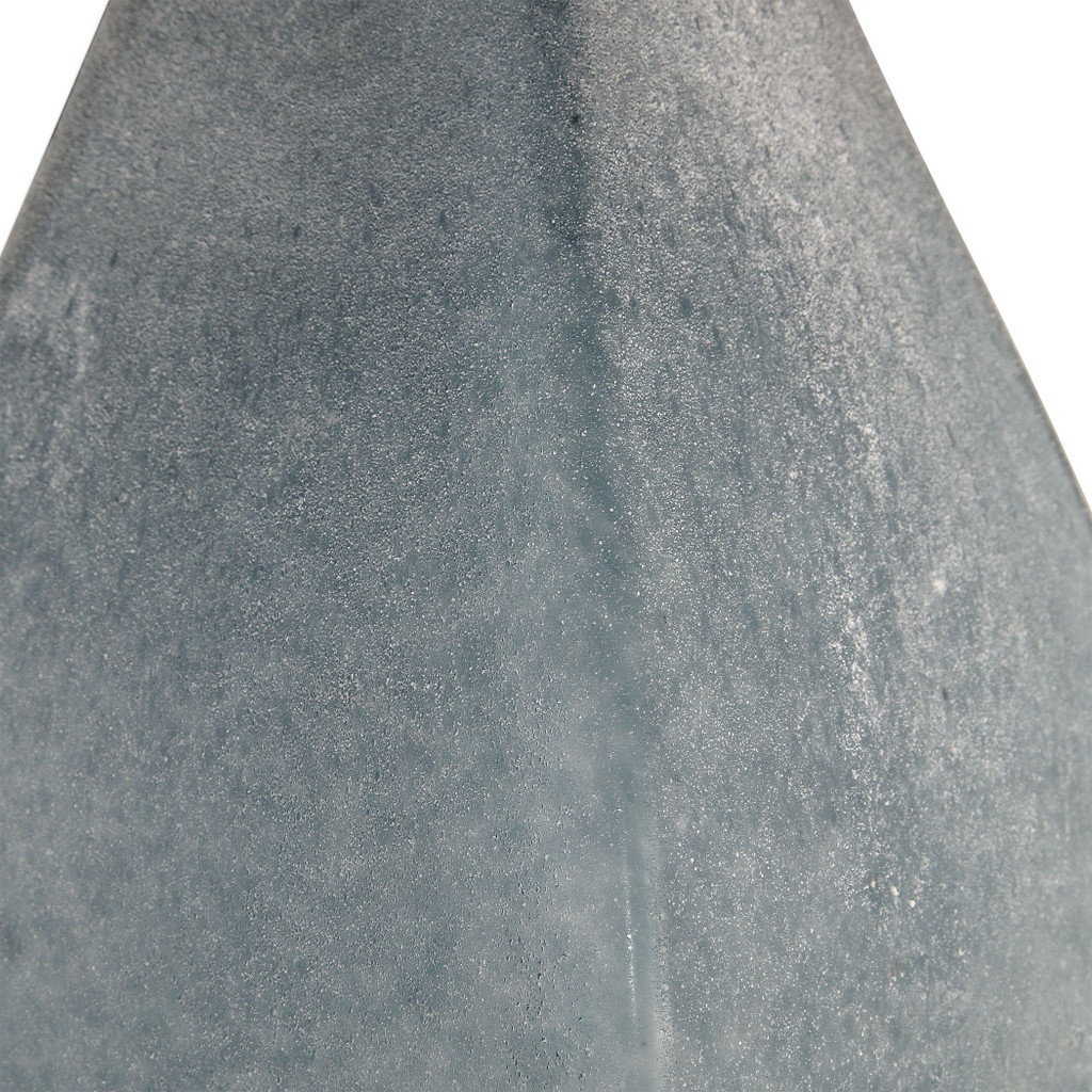Ocean Blue Atlantica Glass Table Lamp close up base