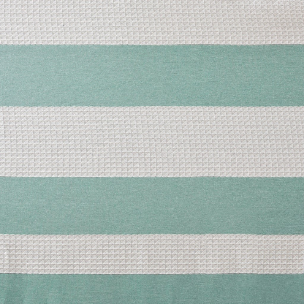 Spa Aqua Striped Shower Curtain