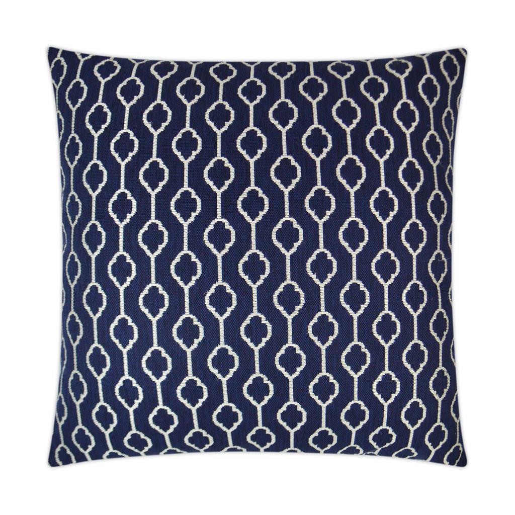 Striker Indigo Blue and White Pillow