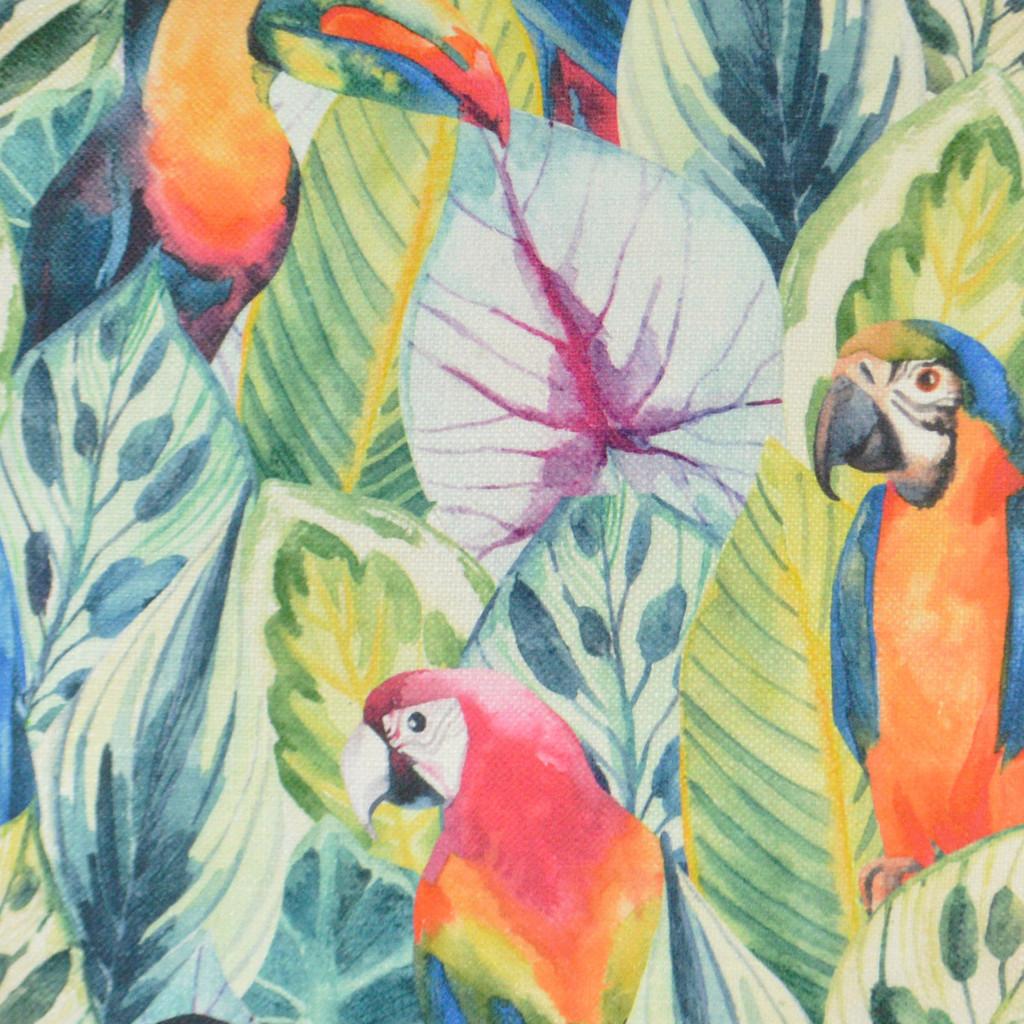 Birdy Opulent Tropical Pillow fabric close up