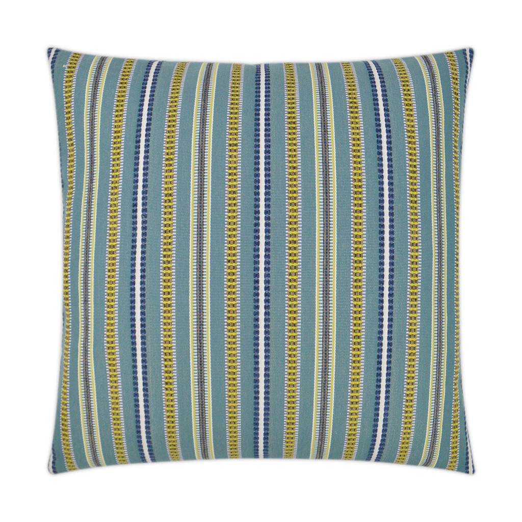 Comino Lagoon Striped Pillow