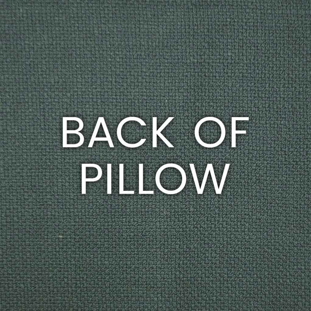 Aqua Reef Encounter Embossed Pillow back of pillow