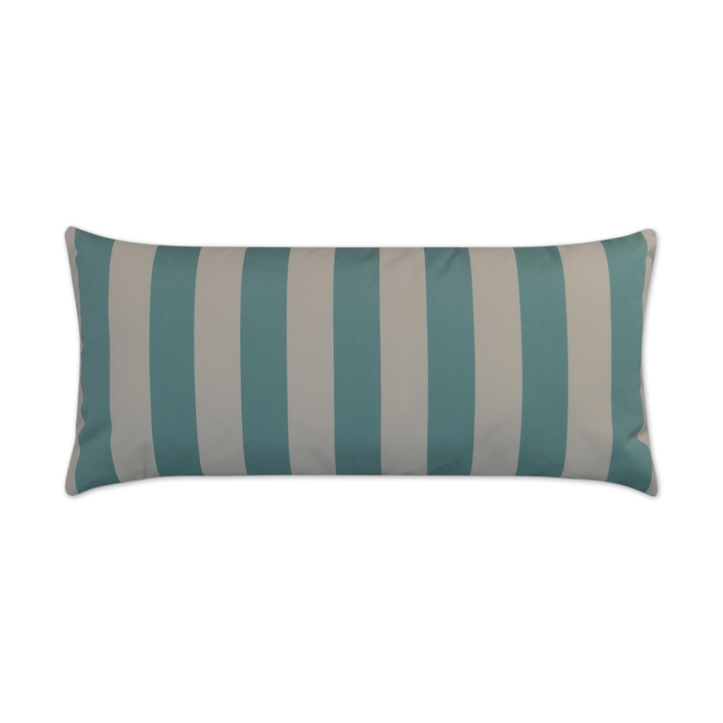 Aqua Cabana Striped 12 x 24 Outdoor Lux Pillow