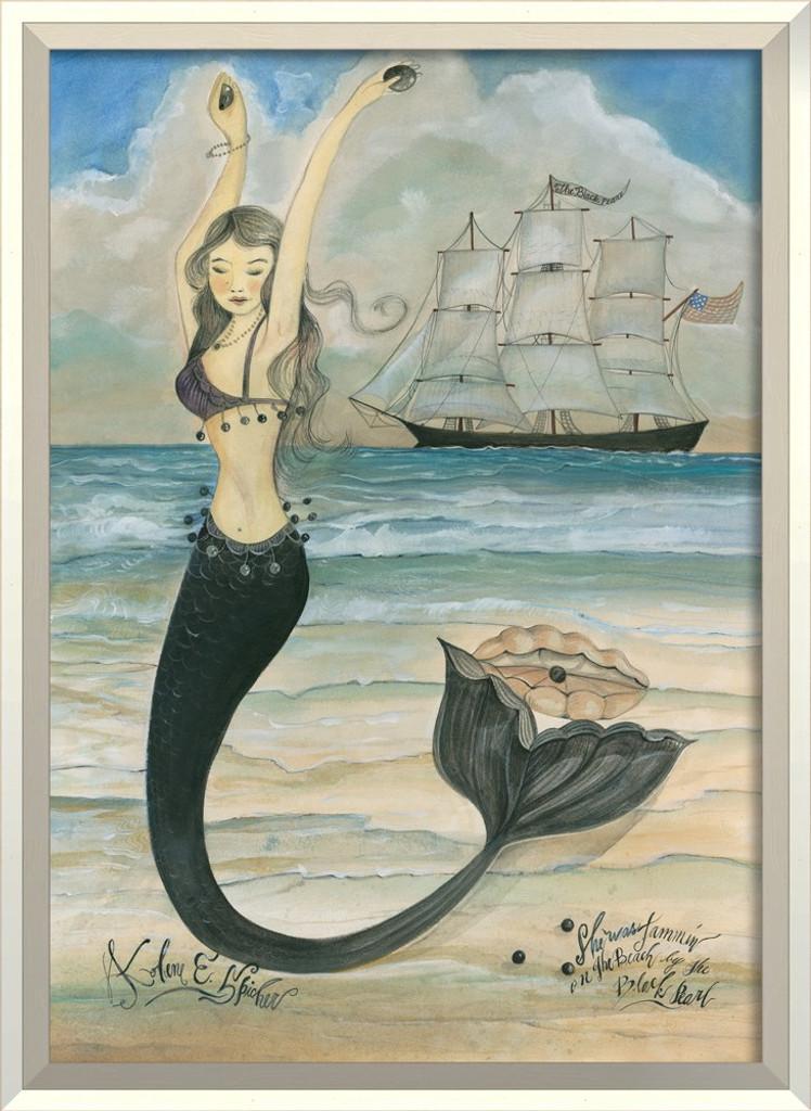 She Was Jammin' Mermaid Art