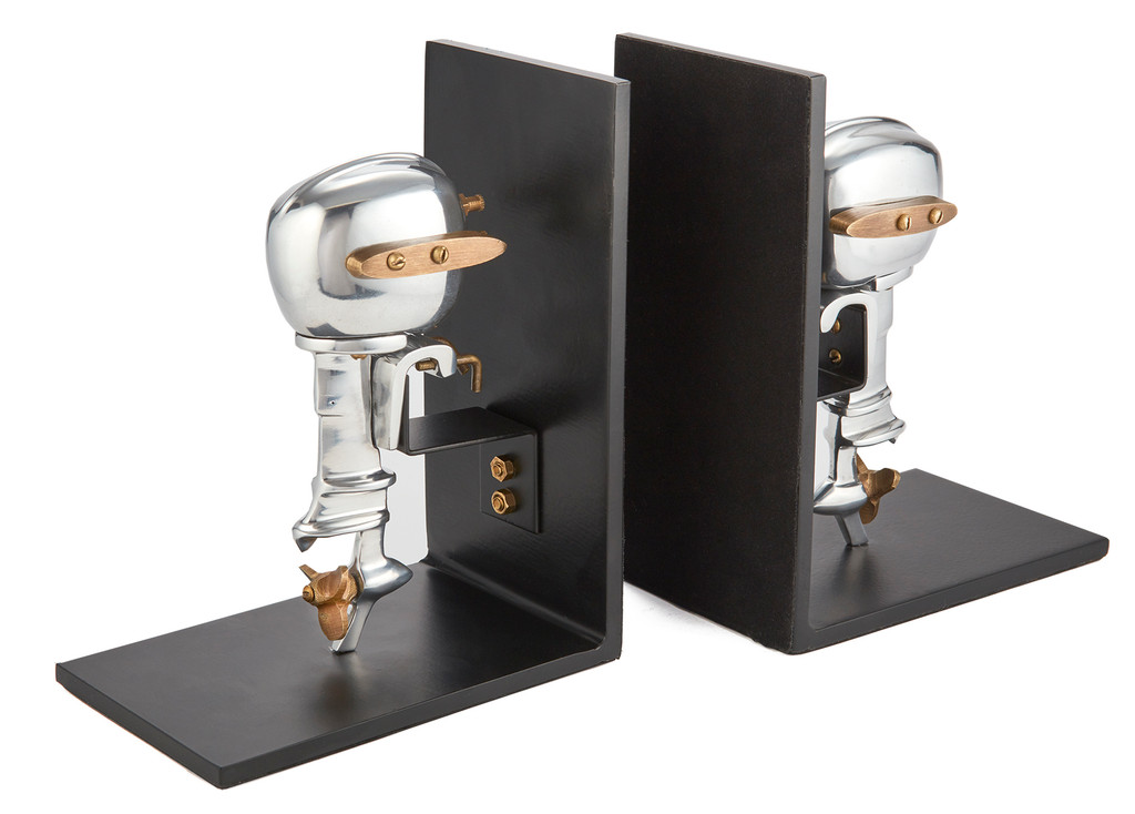 Outboard Motor Bookends Aluminum 2
