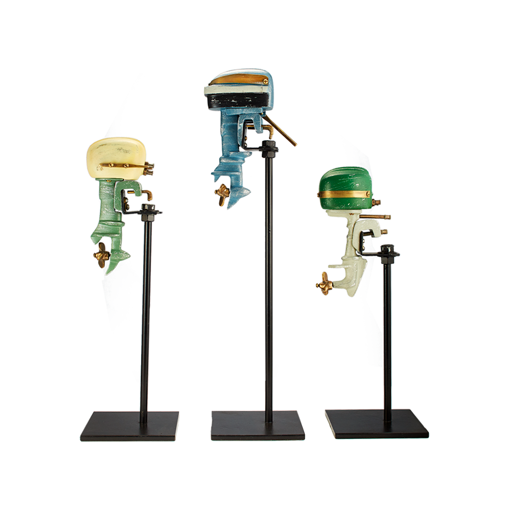 Outboard Motor Replicate Decor Set Painted