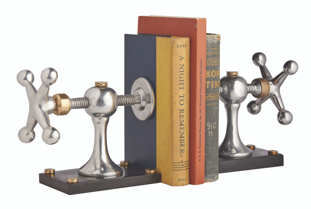 Windlass Polished Aluminum Bookends