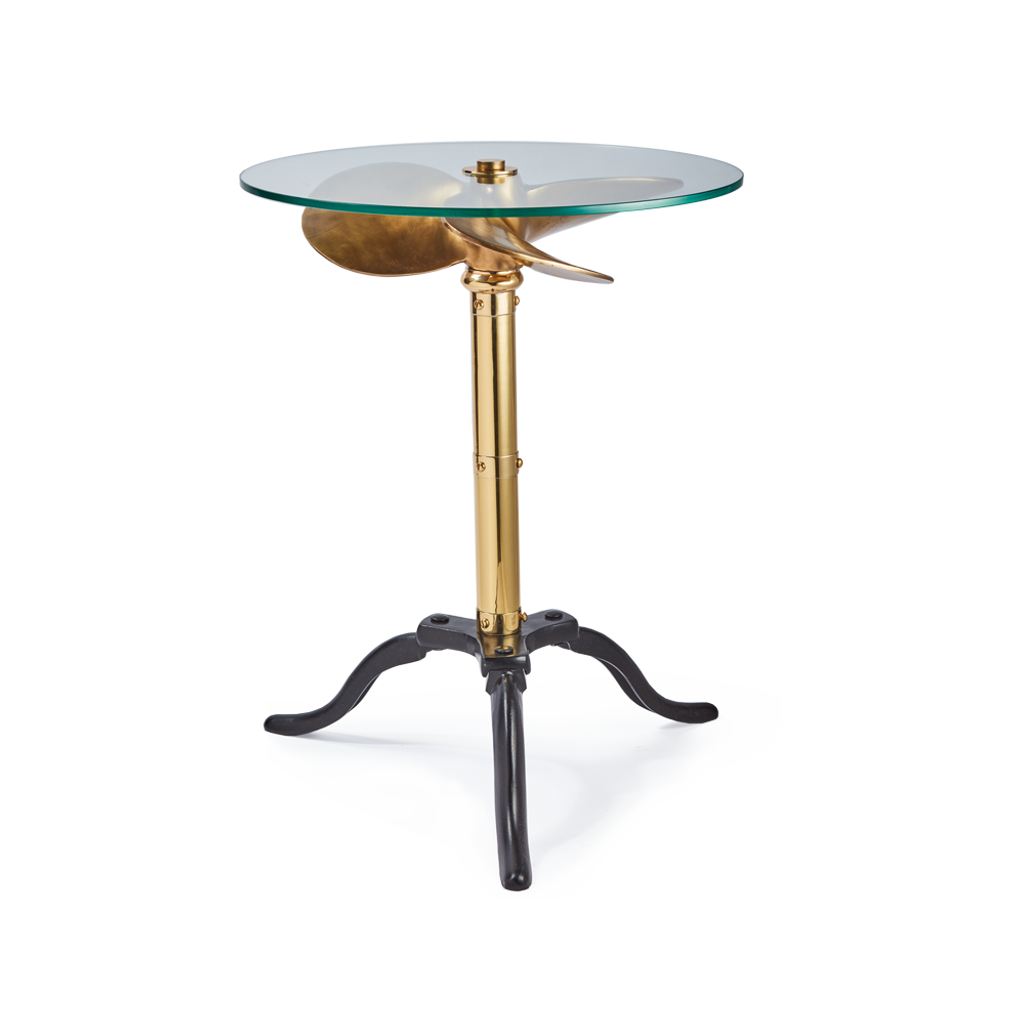 Brass Ship Propeller Side Table