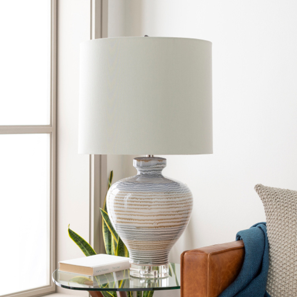 Miramar Striped Table Lamp room view