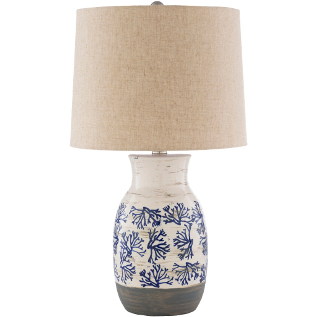 Octavia Blue Coral Painted Table Lamp