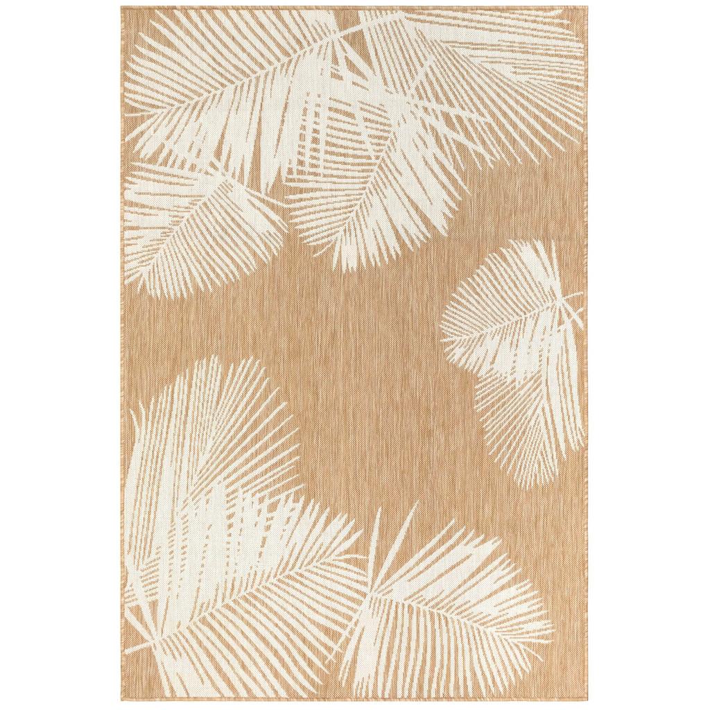 Sand and Ivory Carmel Tropical Palm Rug