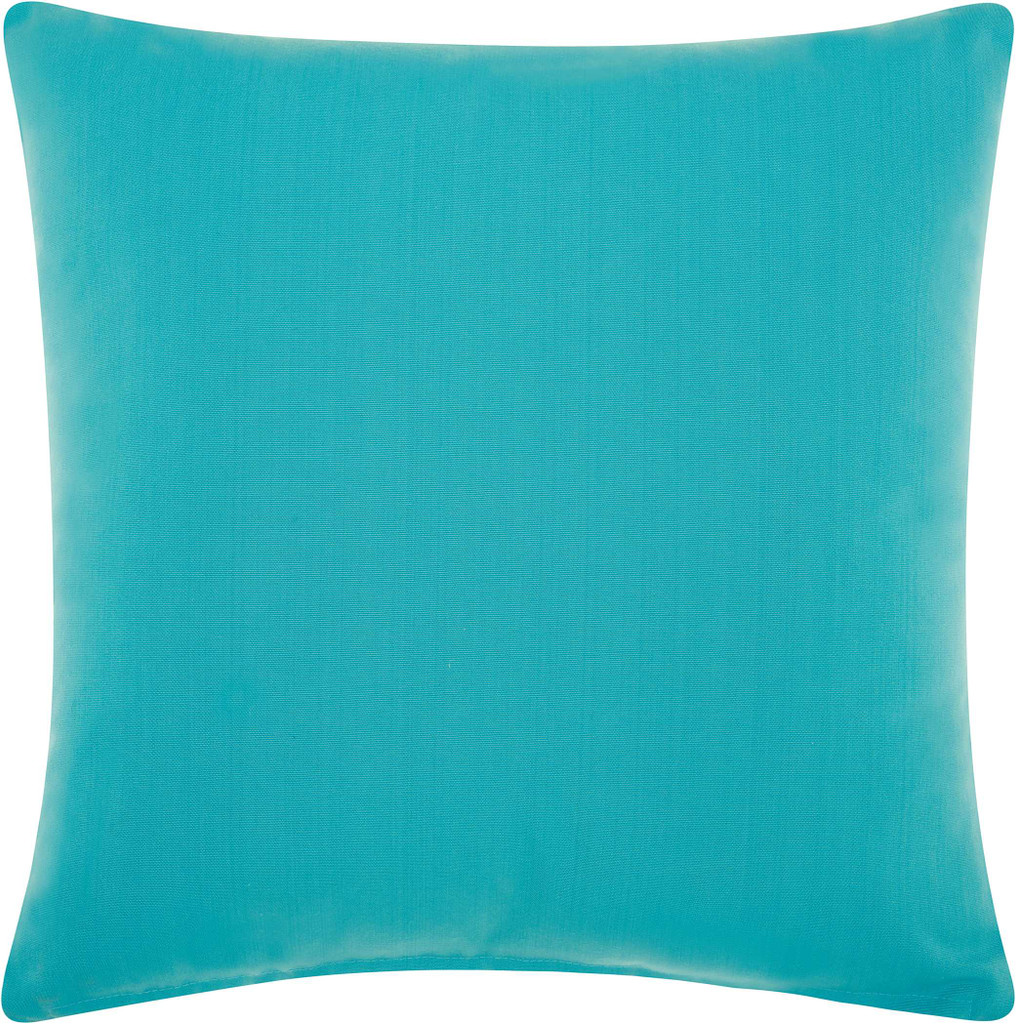 Coral Woven Ropes Turquoise Throw Pillow back of pillow