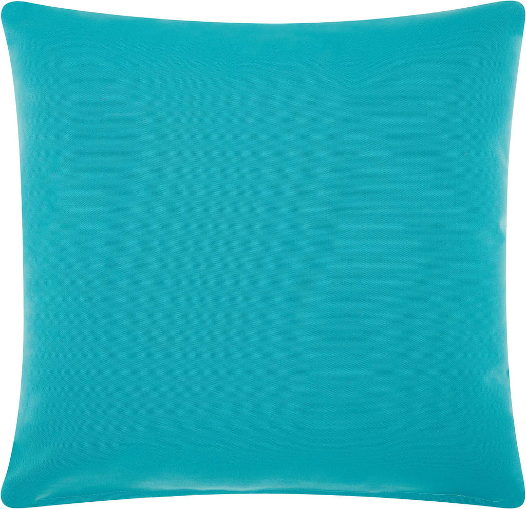 Embellished Corals Aqua and Pink-Coral Pillow back
