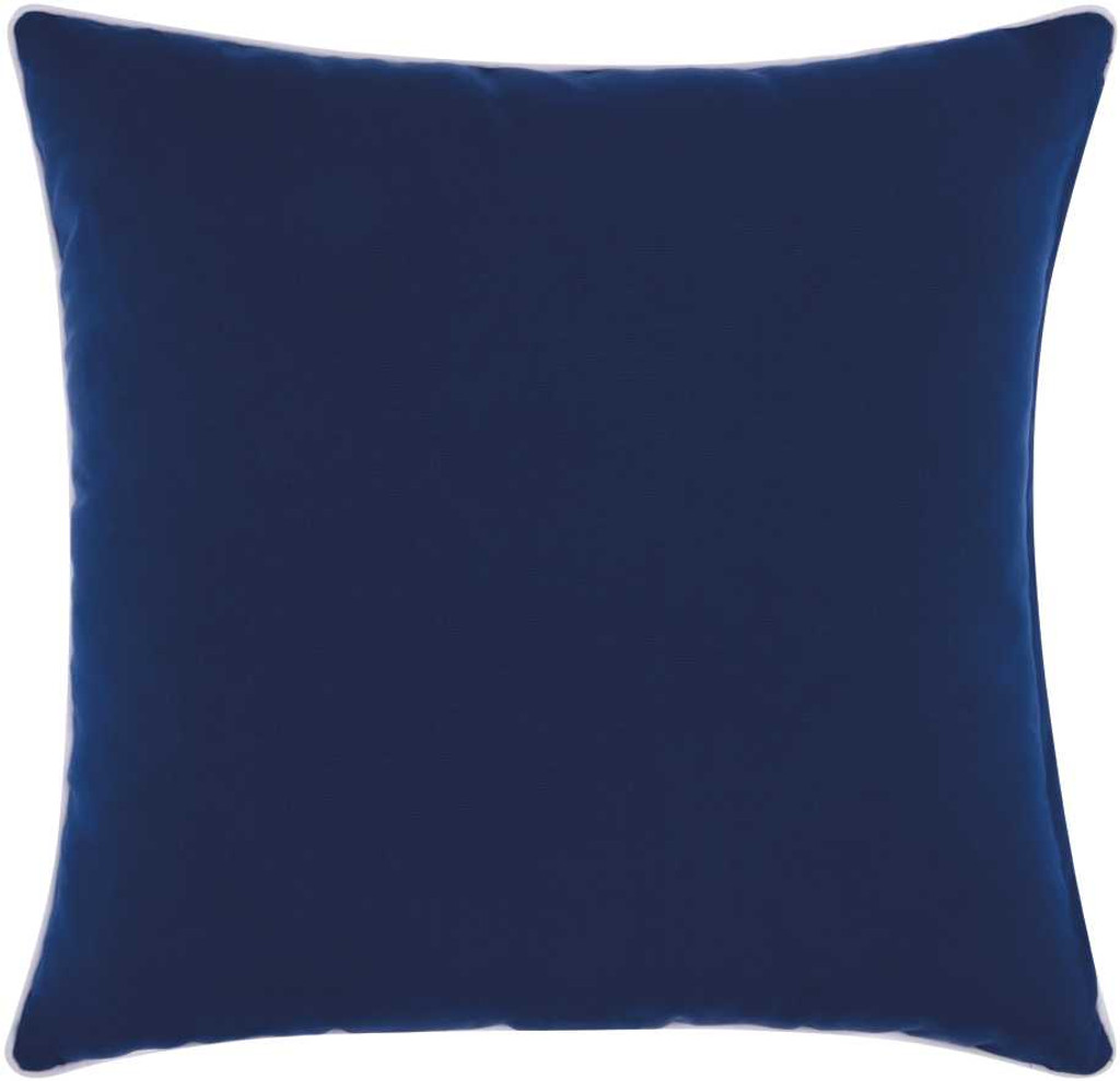 Embellished Navy and White Compass Throw Pillow back