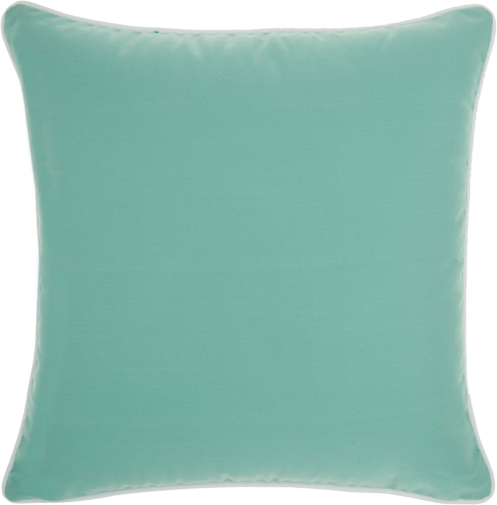 Ocean Living Solid Aqua Indoor-Outdoor Pillow