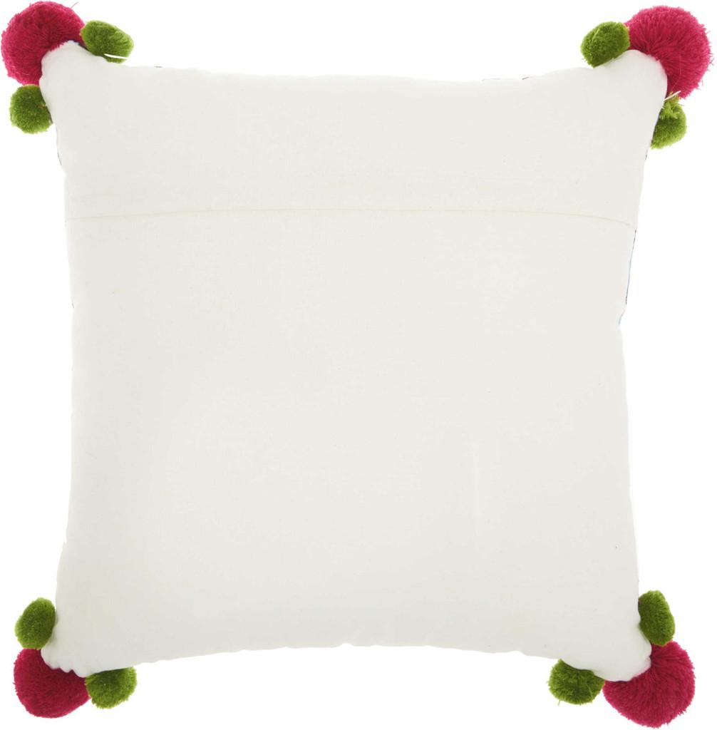 Royal Palm Tropical Garden Throw Pillow back of pillow