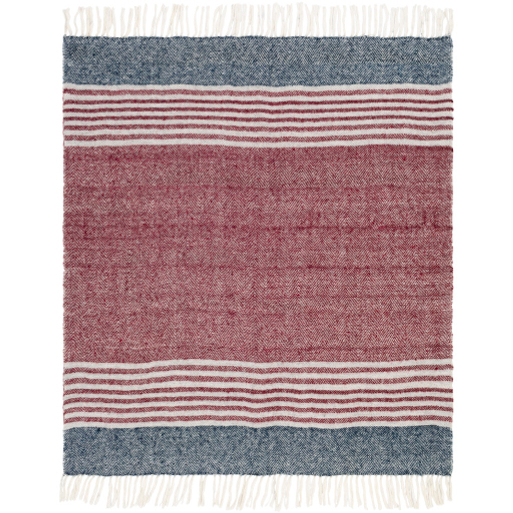 Nautical Striped Traverse Woven Throw view 3