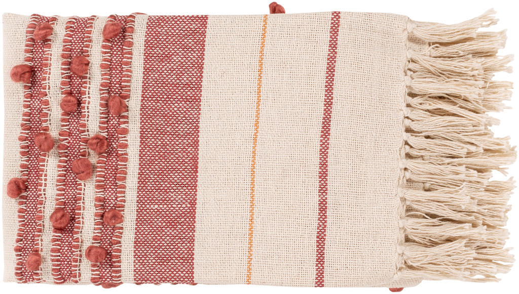 San Onofre Red and Orange Woven Throw view 3