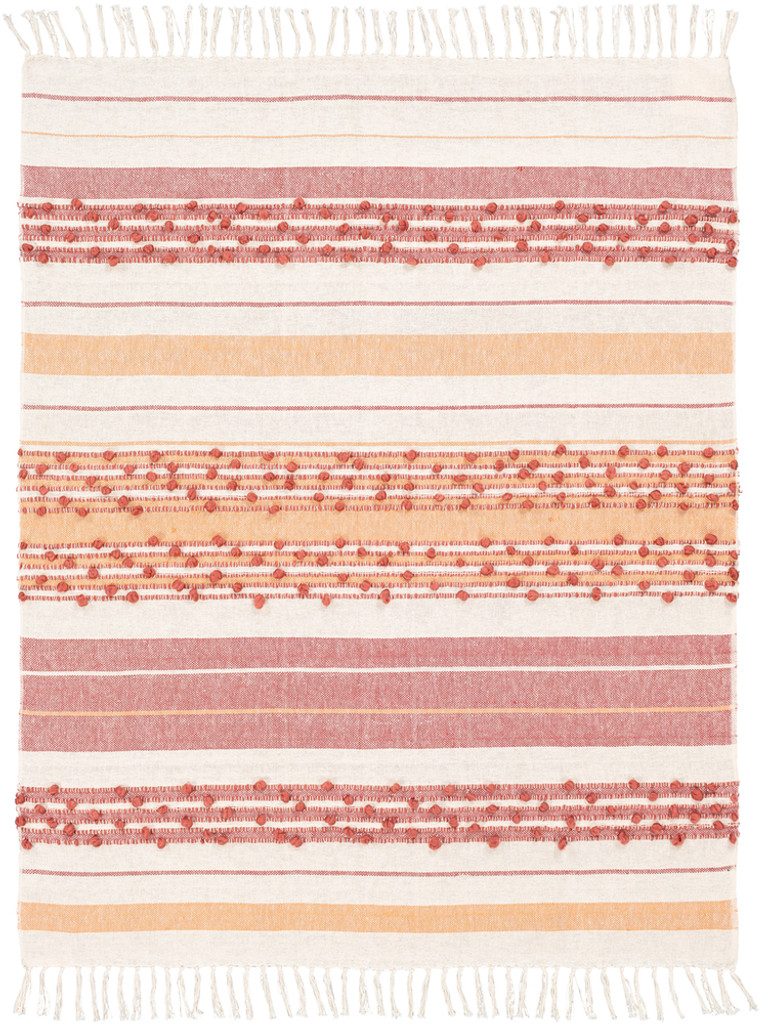 San Onofre Red and Orange Woven Throw view 2