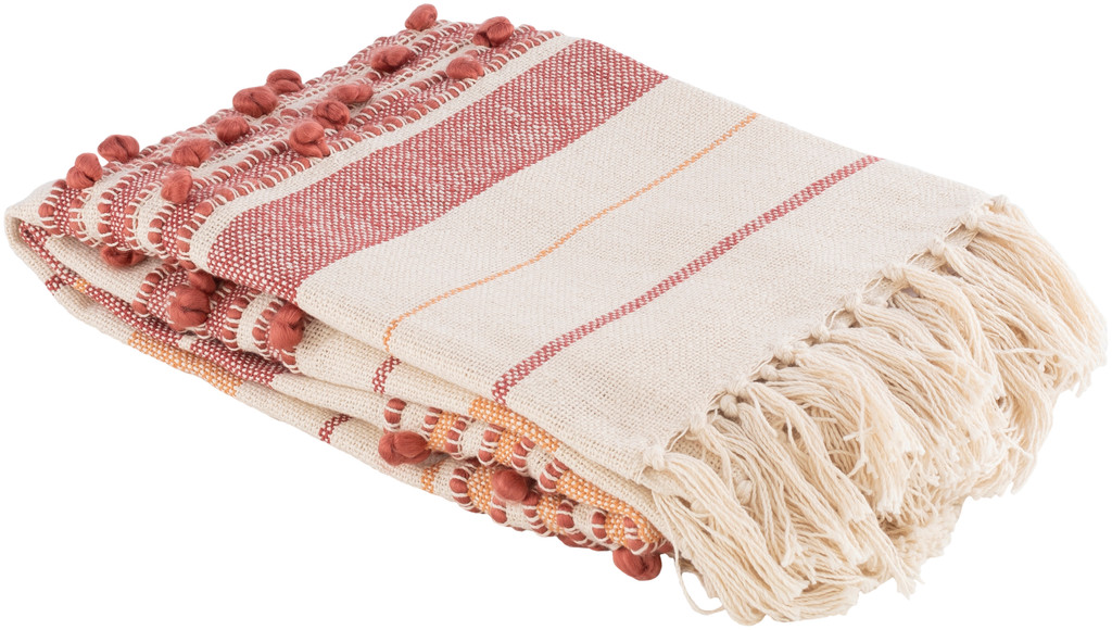 San Onofre Red and Orange Woven Throw