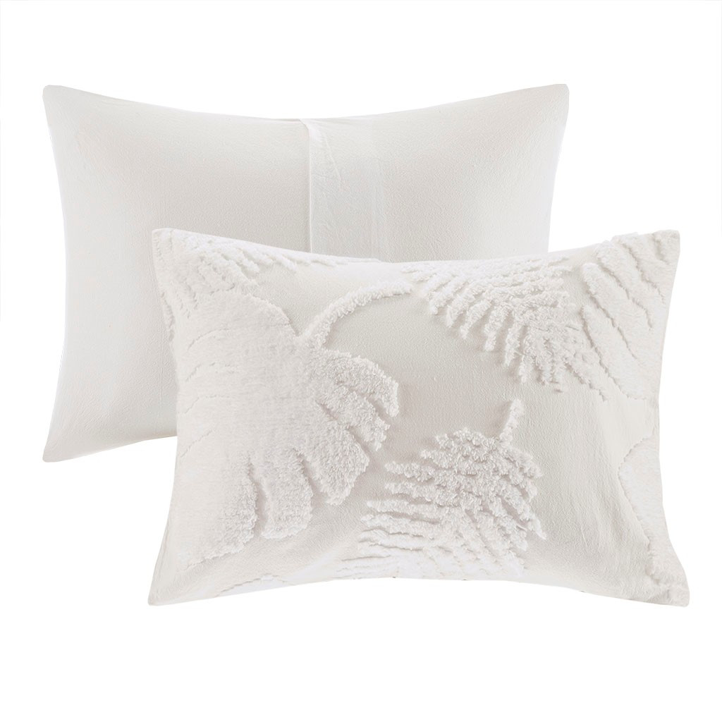 Bahama Palms Tufted Chenille Queen Coverlet Set 3
