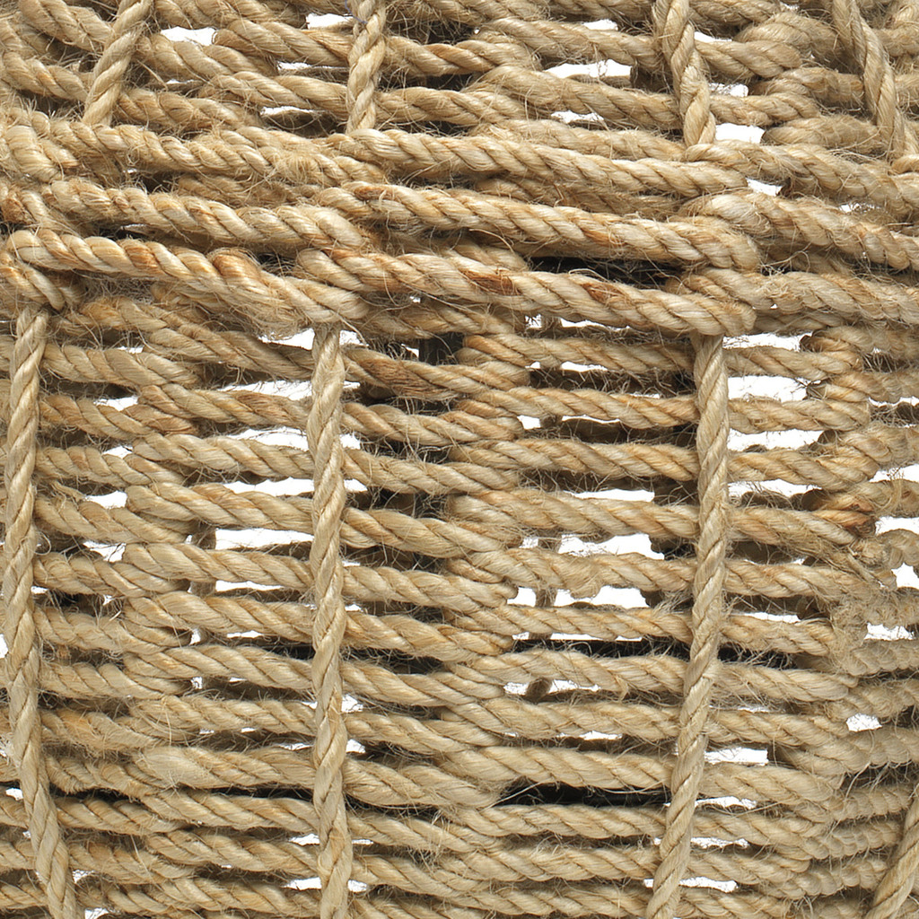 Jute Urn Table Lamp close up weave