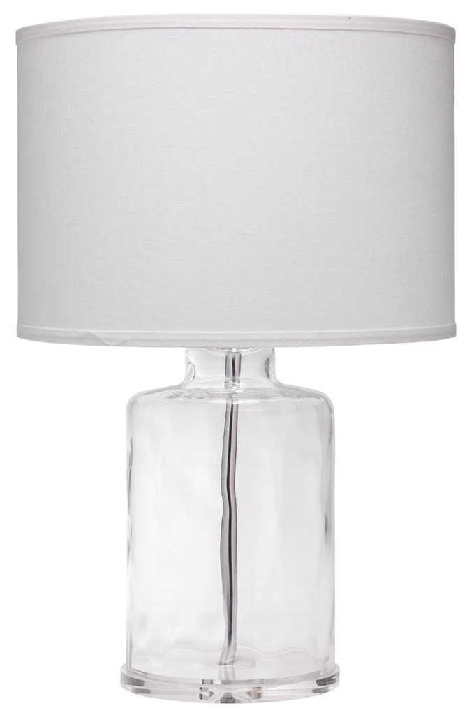 Napa Table Lamp in Clear Hammered Glass
