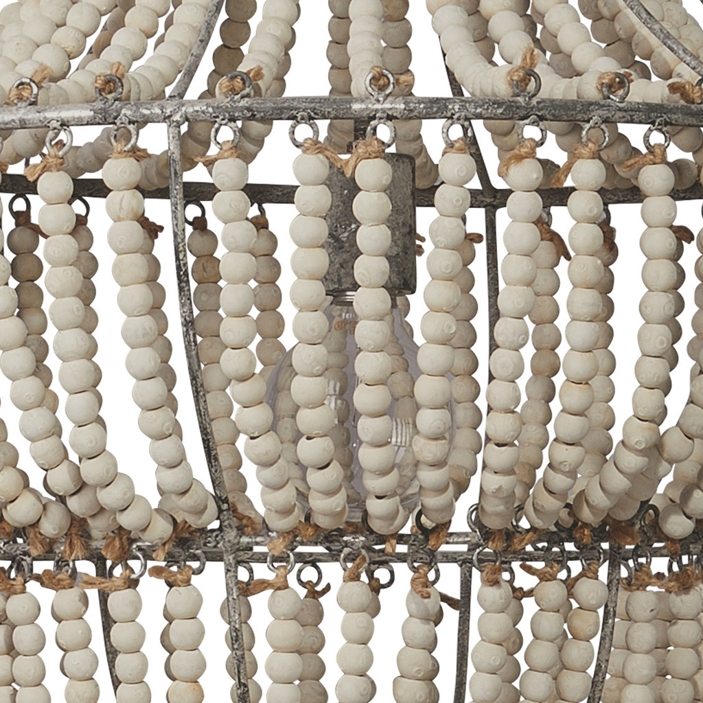 Blanca Seaside Boho Chandelier close up