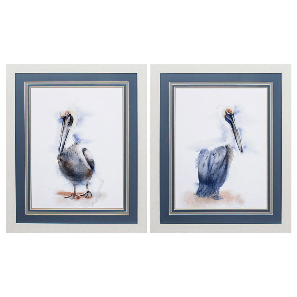 Framed Sassy Pelicans - Set of 2