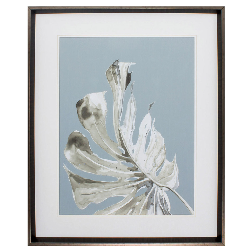 La Naturaleza Palm on Grey Framed Print II