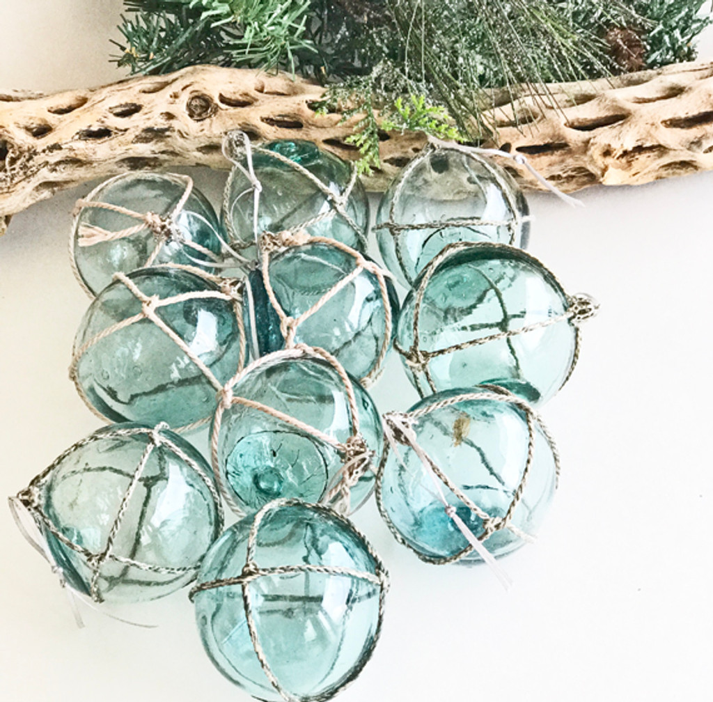 Glass Float Ornaments - Set of 2.Group Shot